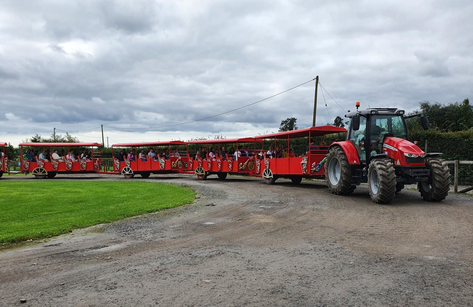 Land Train at Folly Farm